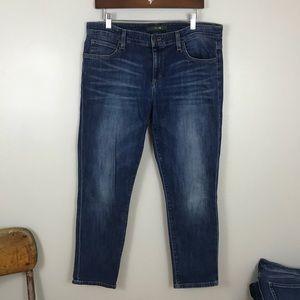 Joe's Jeans | Cropped Medium Blue Denim Jeans